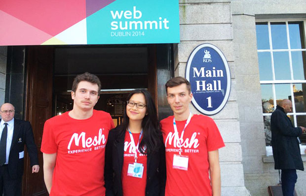 Asher, Angie and Cosmin representin'. Love the t-shirts, guys.