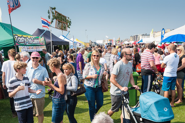 Sunday 7th September 2014. Brighton & Hove Food and Drink Festival. Hove Lawns, East Sussex, UK
